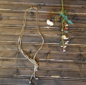 """Gorgeous necklace with tied strand 19"""""""